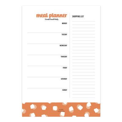 Studio stationery Studio stationery A5 Noteblock Mealplanner Good Food Only