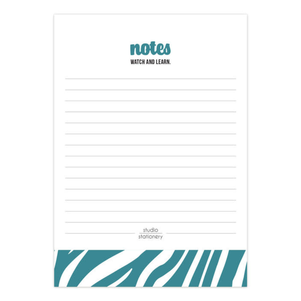 Studio stationery Studio stationery A6 Noteblock Notes watch and learn