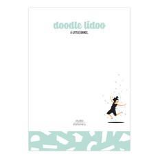 Studio stationery Studio stationery A6 Noteblock doodle lidoo a little dance