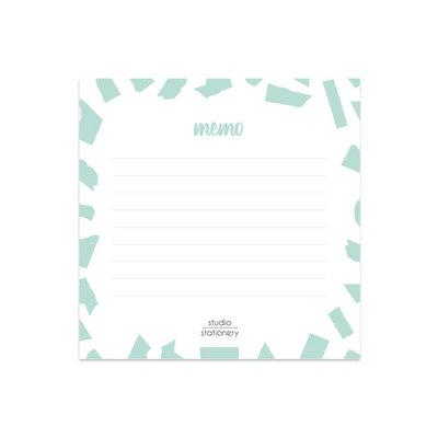 Studio stationery Studio stationery Mini Memo Mint Confetti