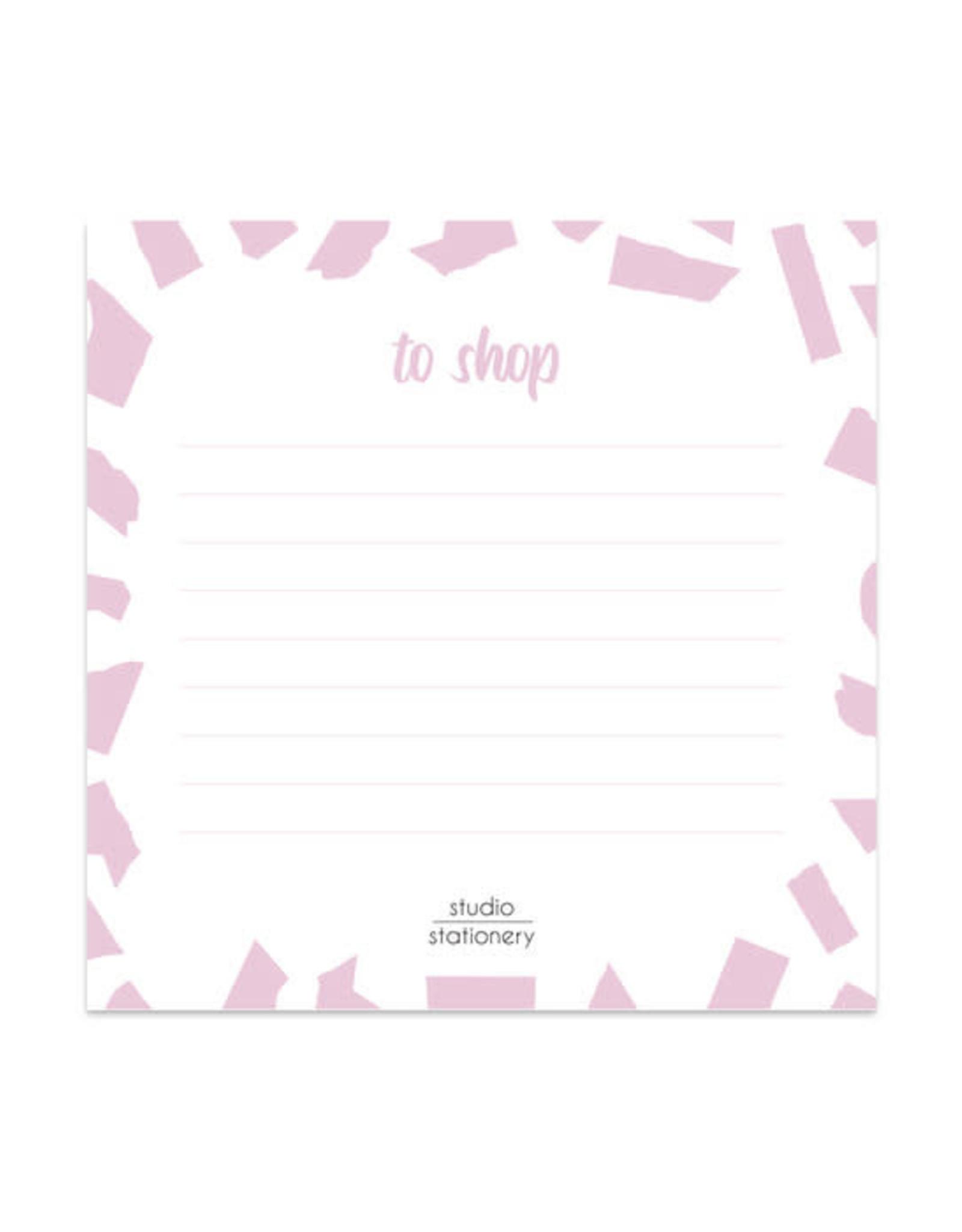 studio stationery Studio stationery Mini To Shop Pink Confetti