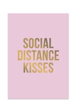 studio stationery Studio stationery kaart A6 Social distance kisses