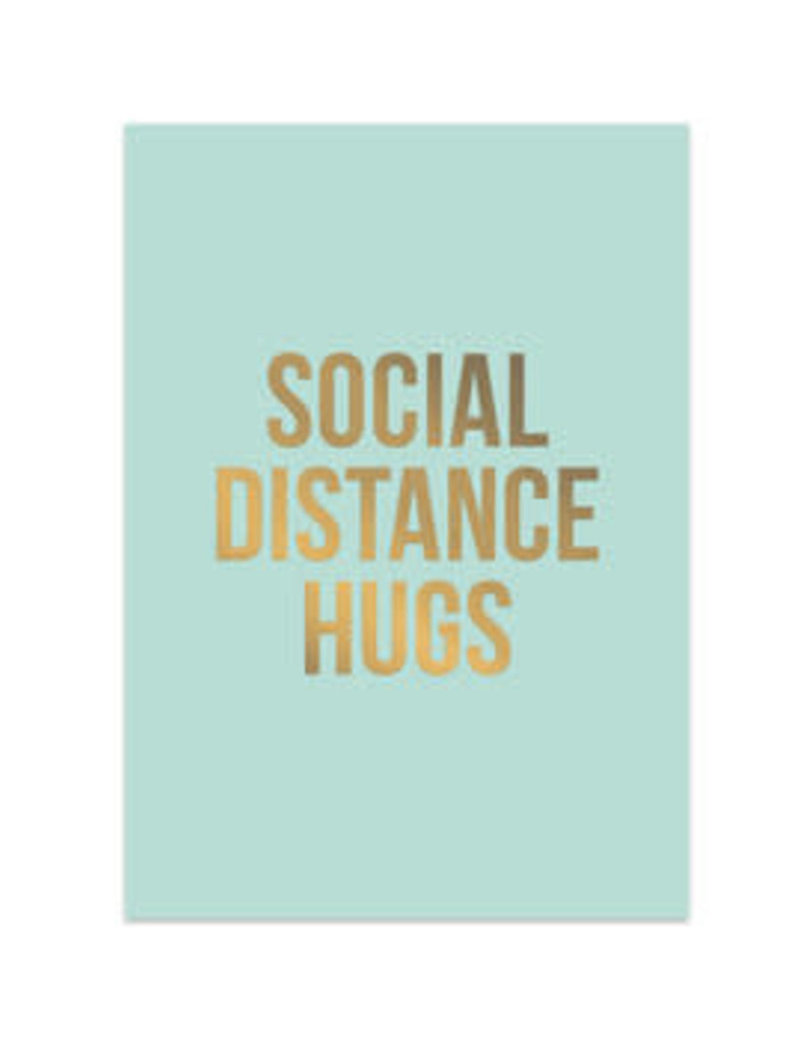 studio stationery Studio stationery kaart A6 Social distance hugs