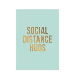 studio stationery Studio stationery kaart A6 Social distance hugs