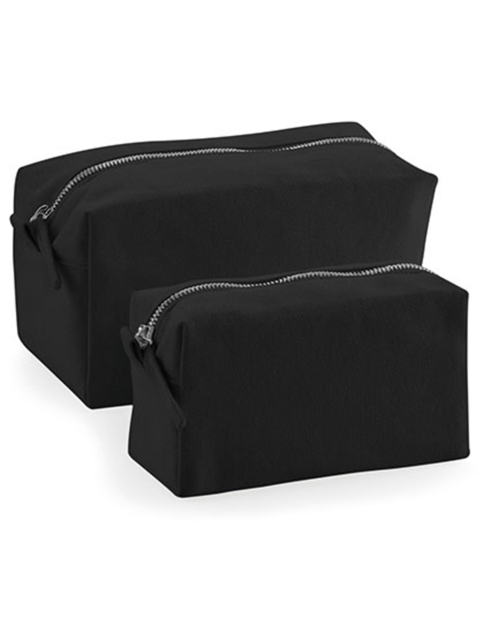 gepersonaliseerd toilettasje zwart S (17x9x7 cm)
