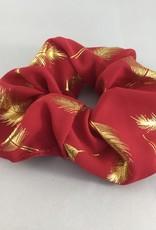 Yehwang Scrunchie rood pluimen