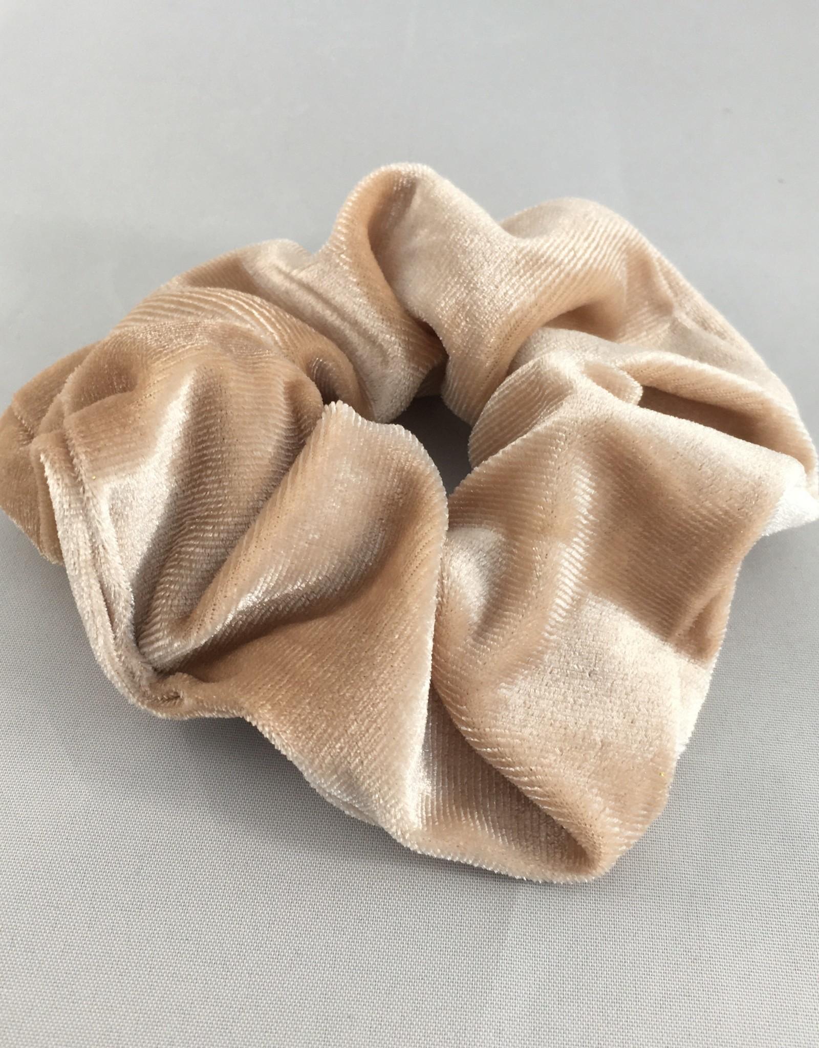 Yehwang Scrunchie velvet beige
