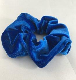 Yehwang Scrunchie velvet kobaltblauw