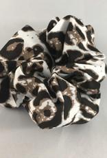 Yehwang Scrunchie panter wit zwart bruin