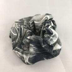 Yehwang Scrunchie grijs wit