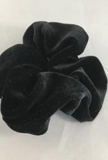 Yehwang Scrunchie velvet zwart