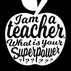 Studio inktvis kaart a6 studio inktvis: I am a teacher what is your superpower