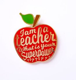 studio inktvis studio inktvis pin I am a teacher rood