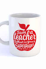 studio inktvis studio inktvis mok I am a teacher what is your superpower?