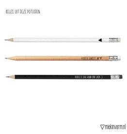 Miek in vorm miek in vorm potlood hout voor de leukste juf