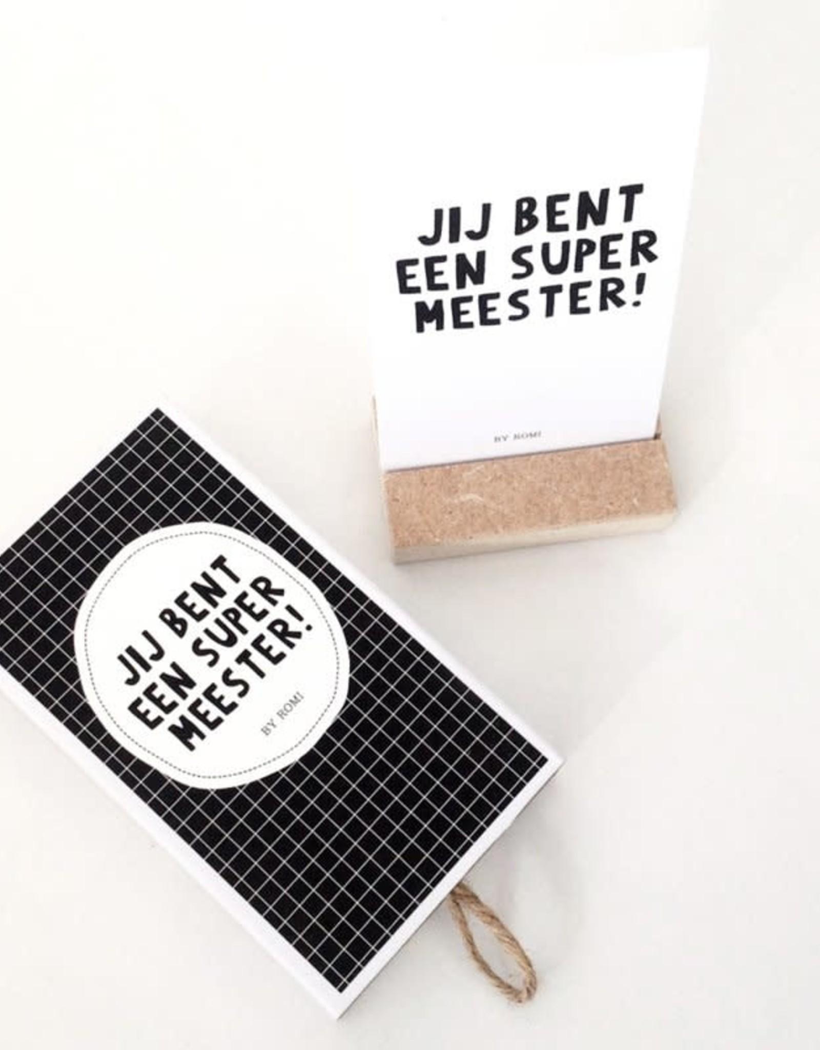 By romi: Wensdoosje Meester / Jij bent een supermeester
