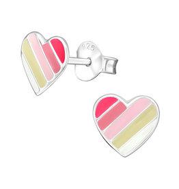 Precious jewels Precious jewels: hartjes roze streepjes