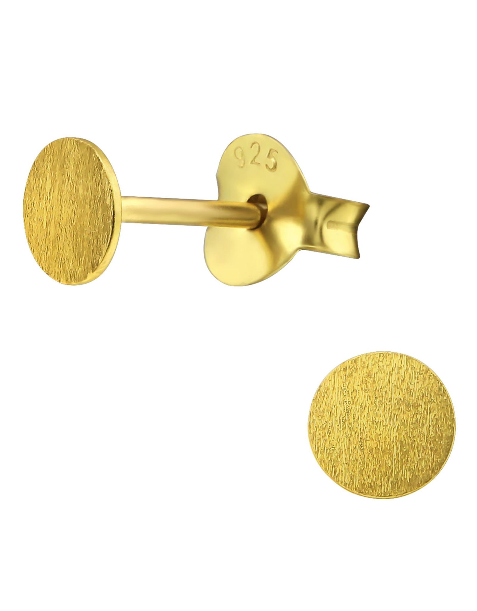 Precious jewels Precious jewels: oorstekers cirkel goudkleurig structuur