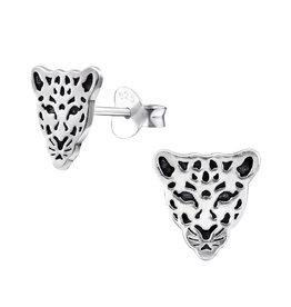 Precious jewels Precious jewels: oorstekers tijgerkop zilverkleurig