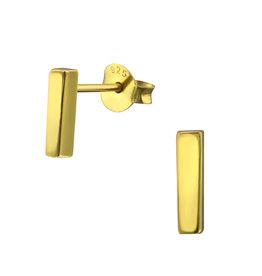 Precious jewels Precious jewels: oorstekers staafjes goudkleurig