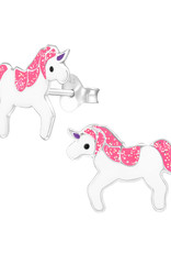 Precious jewels Precious jewels: oorstekers unicorn wit en roze