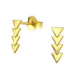 Precious jewels Precious jewels: oorstekers driehoekjes goudkleurig