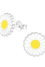 Precious jewels Precious jewels: oorstekers bloemen wit geel