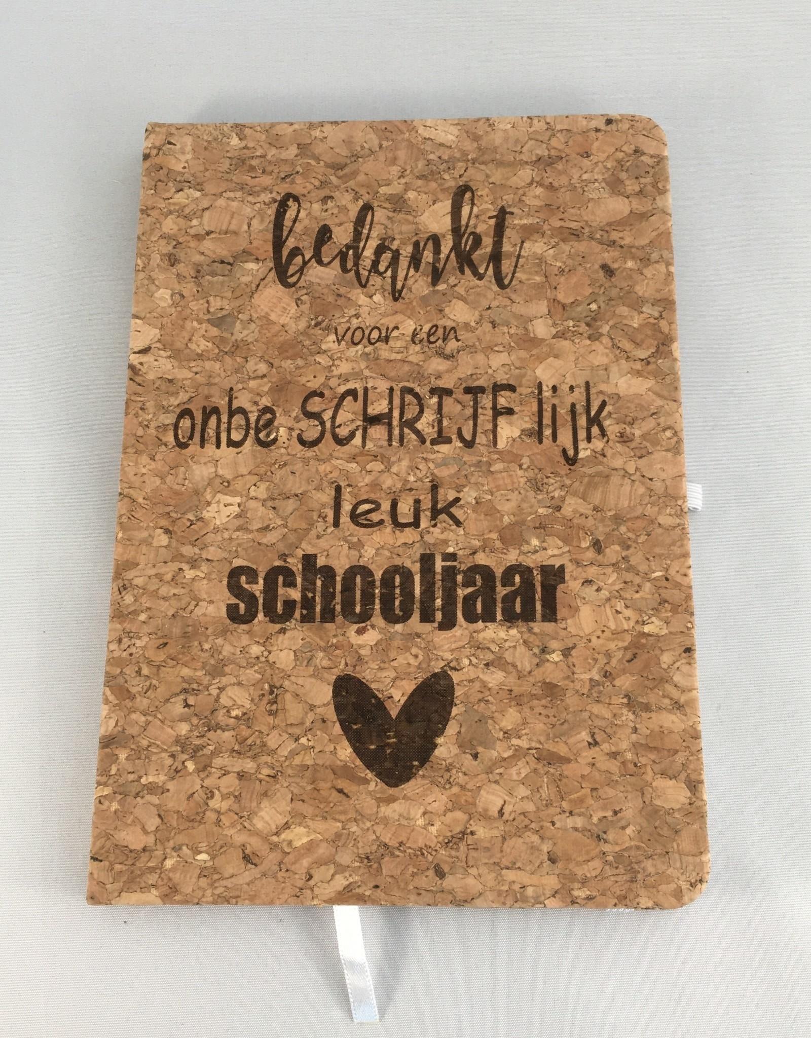 't Gelukske 't Gelukske: notitieboekje A5 bedankt juf!