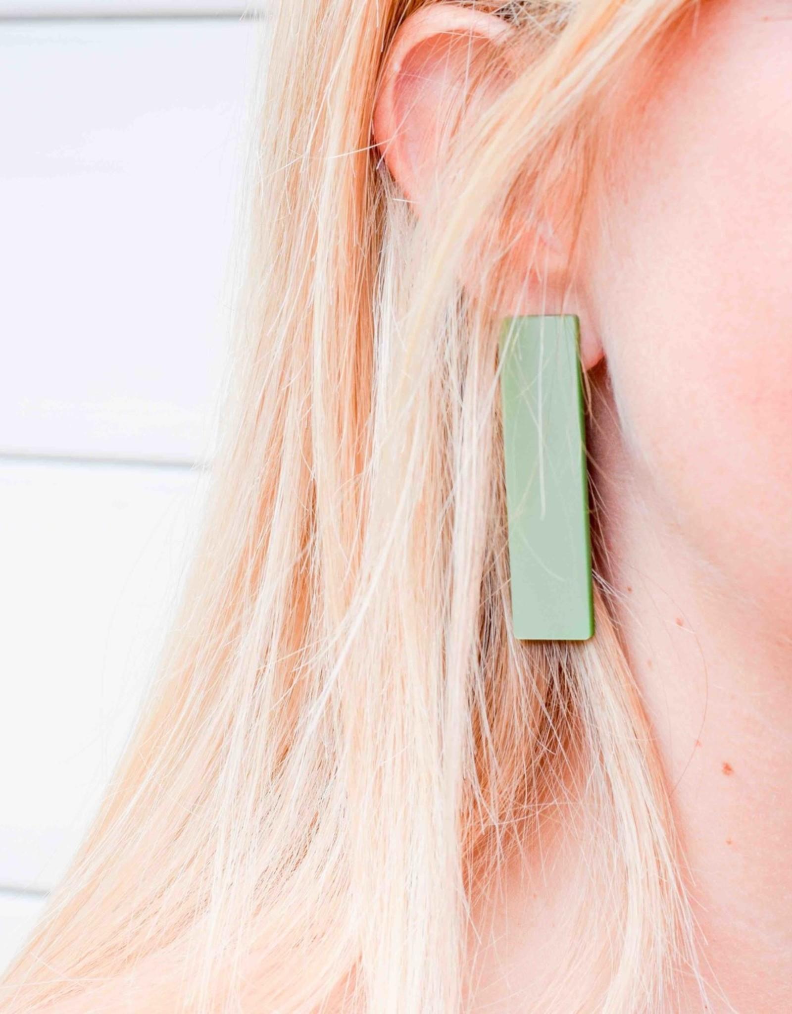 Printpraal Printpraal oorbellen EVELINA  smaragdgroen