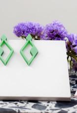 Printpraal Printpraal oorbellen JACQUELINE smaragdgroen
