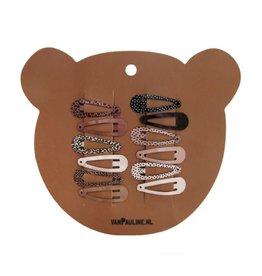 Van Pauline Van Pauline: haarclips beer 3 cm (per 12)