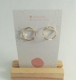 Isa en Roza Isa en Roza 083 oorstekers goudkleurig