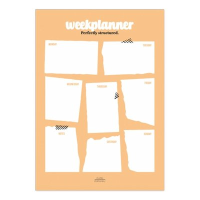Studio stationery Studio stationery A4 Noteblock weekplanner Perfectly structured