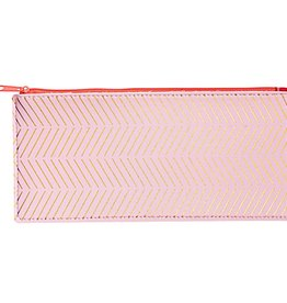 rico design rico design: platte pennenzak roze en gouden strepen