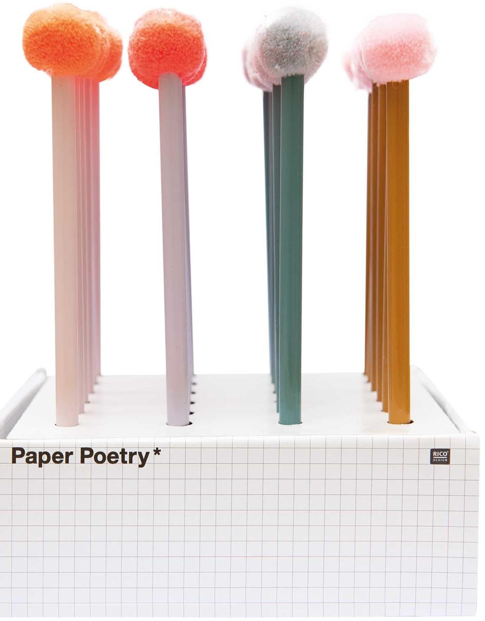 rico design rico design: grijs potlood pompon lichtroze