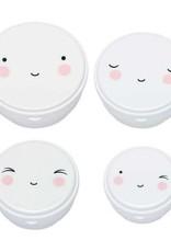 A little lovely company ALLC  snackbox set: happy face