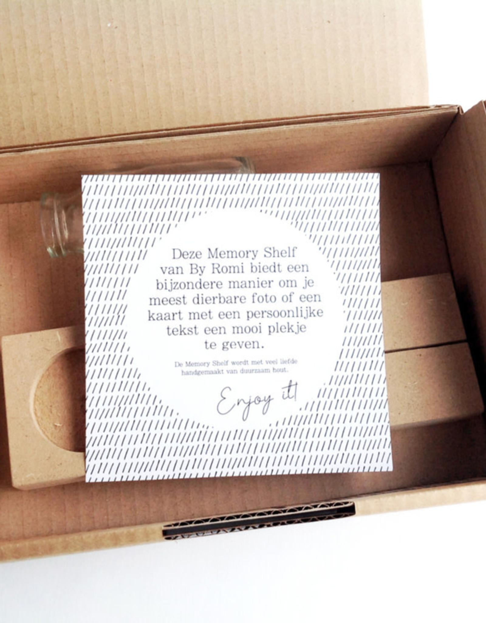 By romi By romi: memory shelf met vaasje, kaarsje en kaartje hart