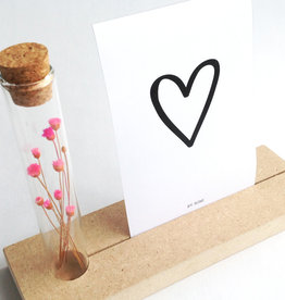 By romi By romi: memory shelf + vaasje + droogbloemen + kaart hartje