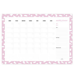 studio stationery Studio stationery A3 Monthly planner Confetti Lila