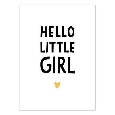 Hofje van Kieka kaart a6 Hofje van Kieka Hello little girl goud