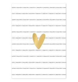 Hofje van Kieka kaart a6 Hofje van Kieka Hartje klein goud