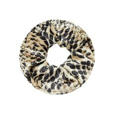 Scrunchie velvet snake beige zwart