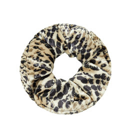 Musthaves Scrunchie velvet snake beige zwart