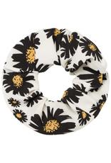 Musthaves Scrunchie daisy flowers wit zwart