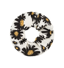 Musthaves Scrunchie daisy flowers wit zwart