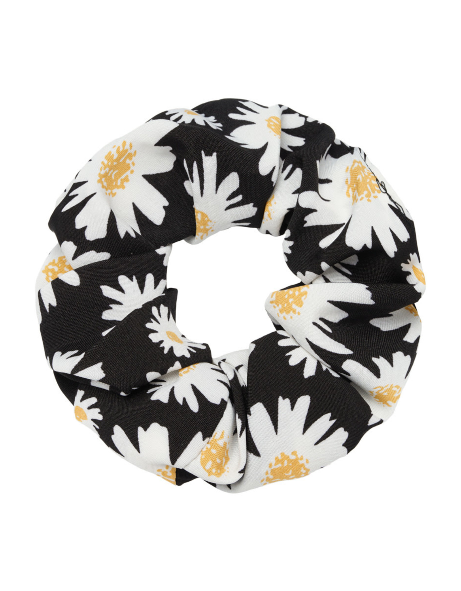 Musthaves Scrunchie daisy flowers zwart