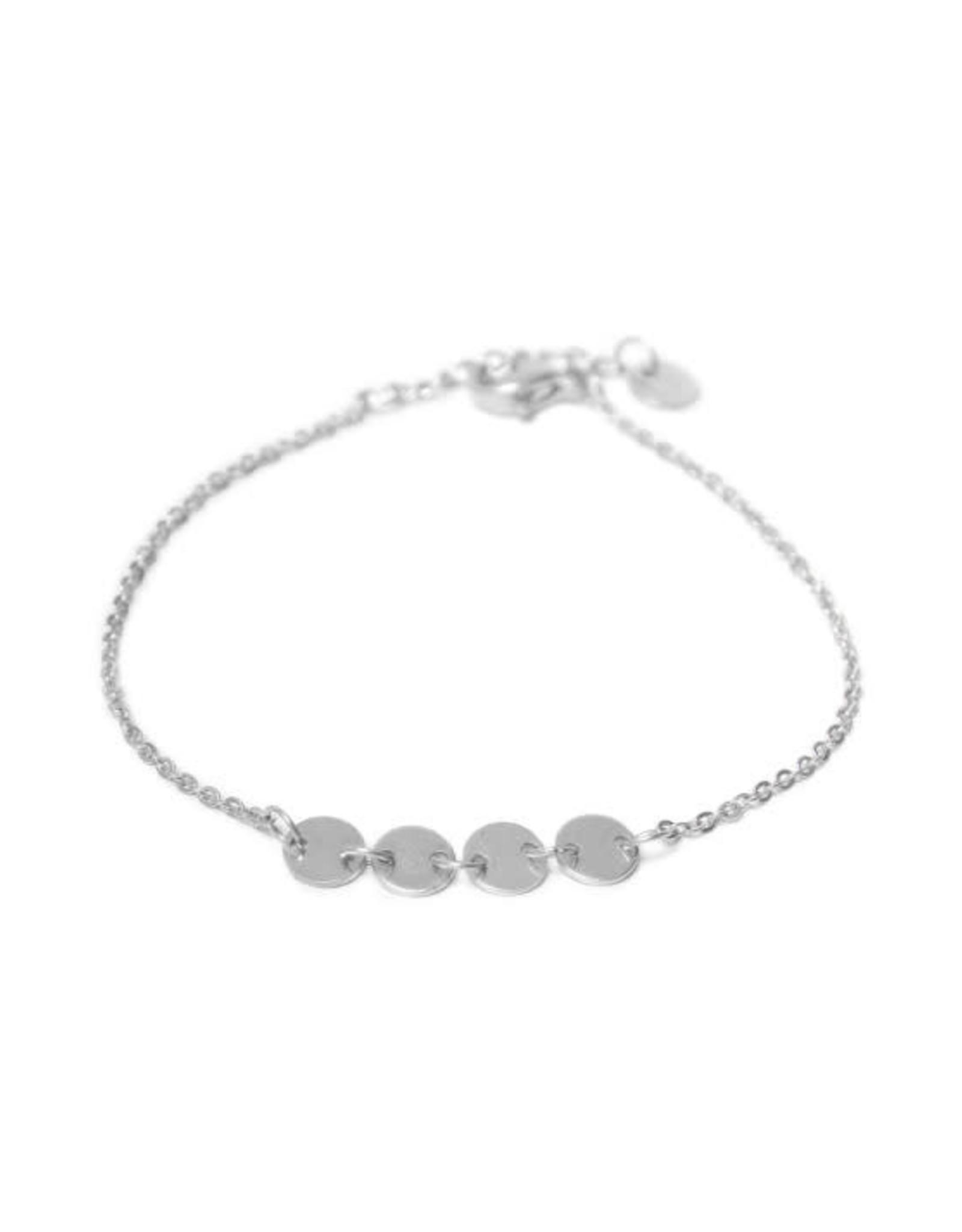 Label kiki label kiki bracelet round silver