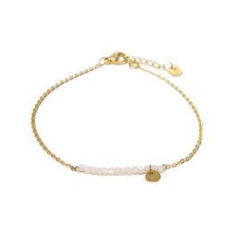 Label kiki label kiki bracelet square pastel gold