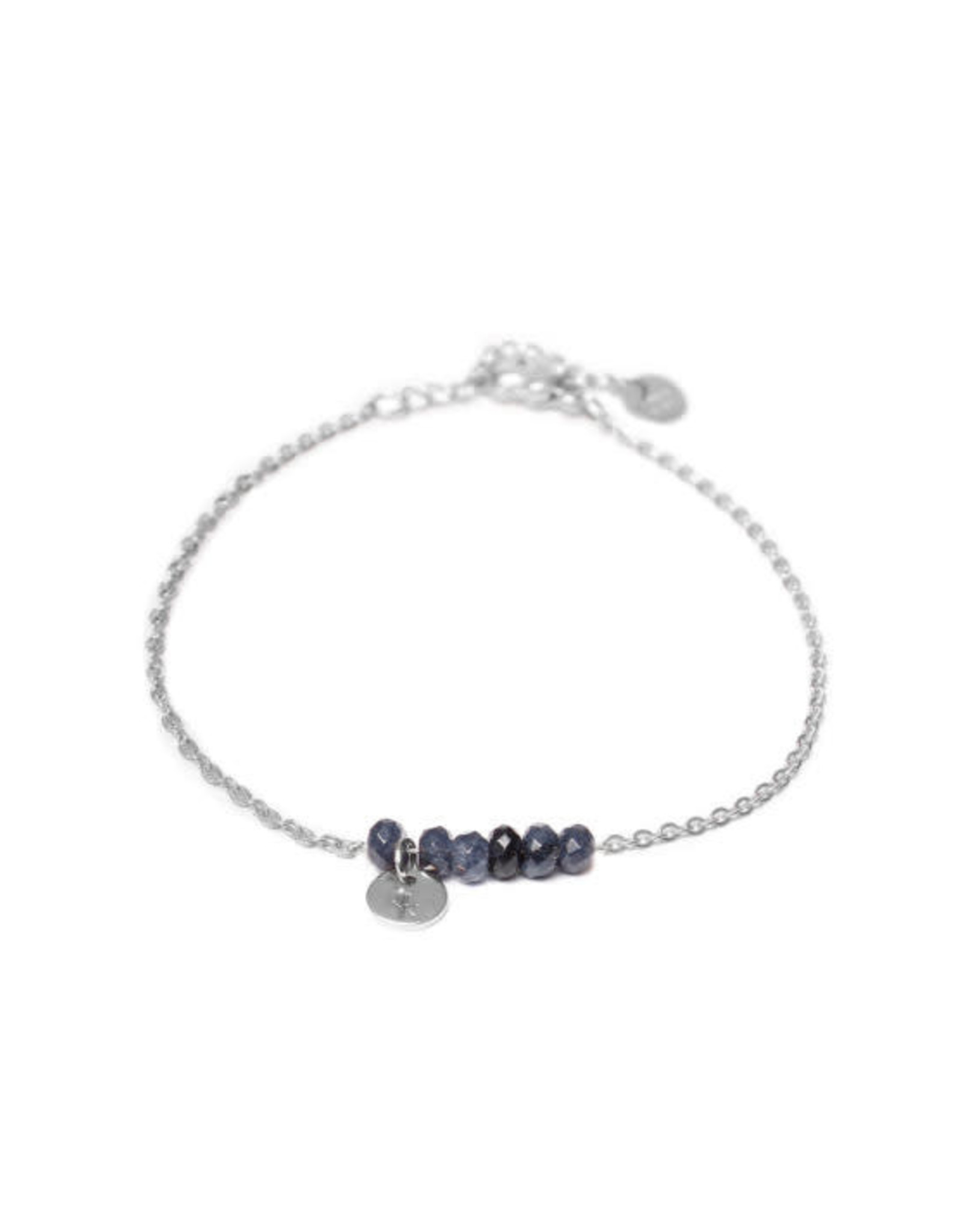 Label kiki label kiki bracelet jade anthracite silver