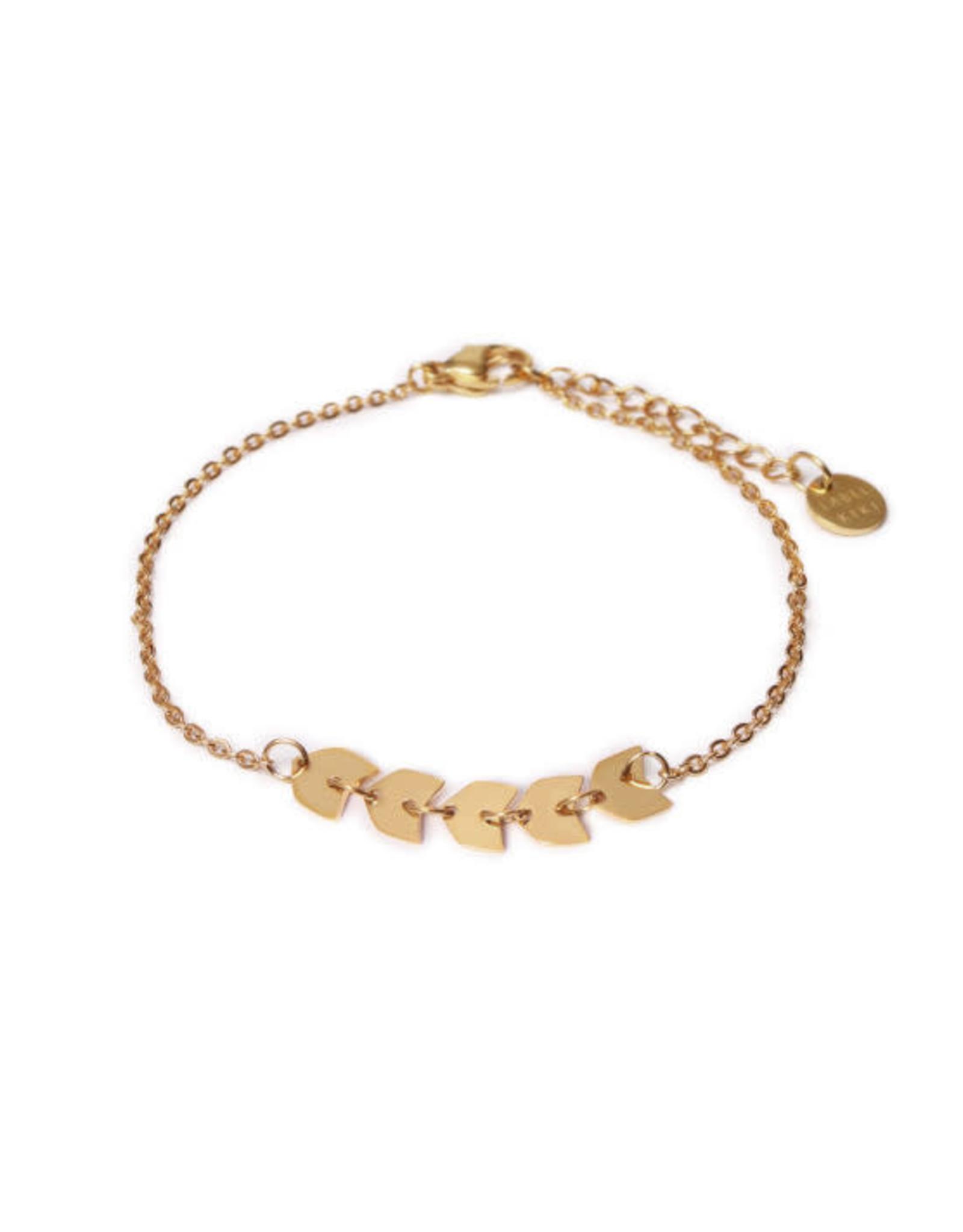 Label kiki label kiki bracelet fishbone gold